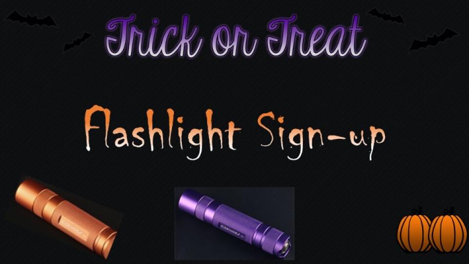 Trick or Treat Flashlight Sign-up